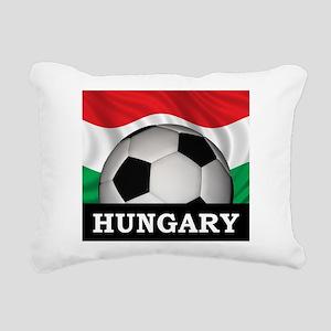 Hungary Football Rectangular Canvas Pillow