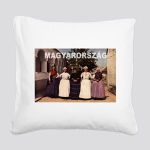 Hungary Square Canvas Pillow