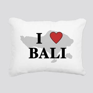 I Love Bali Rectangular Canvas Pillow