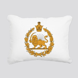 Persia Coat Of Arms Rectangular Canvas Pillow