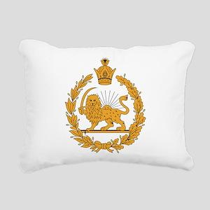 Persia Coat Of Arms Rectangular Canvas Pillow