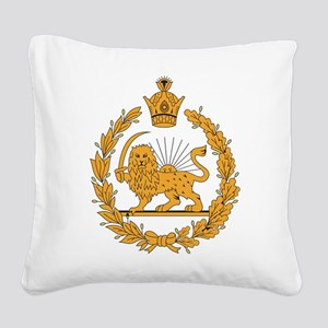Persia Coat Of Arms Square Canvas Pillow