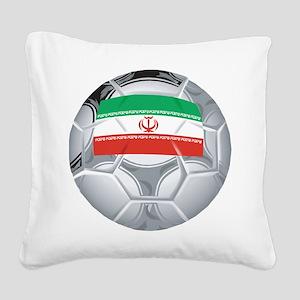 Iran Soccer Square Canvas Pillow