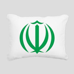 Iran Coat Of Arms Rectangular Canvas Pillow