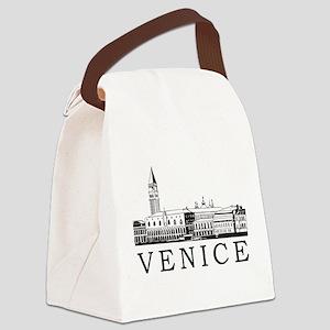 Venice Skyline Canvas Lunch Bag