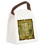 Celtic Letter G Canvas Lunch Bag
