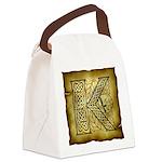 Celtic Letter K Canvas Lunch Bag