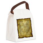 Celtic Letter N Canvas Lunch Bag