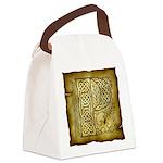 Celtic Letter P Canvas Lunch Bag