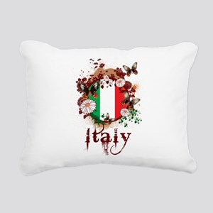 Butterfly Italy Rectangular Canvas Pillow