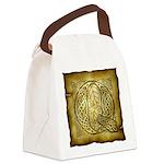 Celtic Letter Q Canvas Lunch Bag