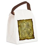 Celtic Letter R Canvas Lunch Bag