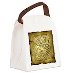 Celtic Letter S Canvas Lunch Bag