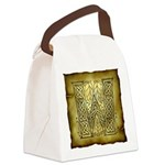 Celtic Letter W Canvas Lunch Bag