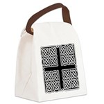 Celtic Square Cross Canvas Lunch Bag