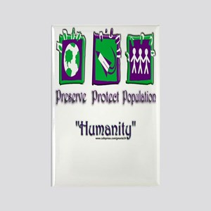 Humanity Rectangle Magnet