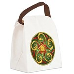 Celtic Pentacle Spiral Canvas Lunch Bag