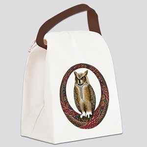 Celtic Owl Canvas Lunch Bag