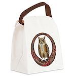 Celtic Owl Canvas Lunch Bag