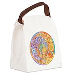 Celtic Crescents Rainbow Canvas Lunch Bag