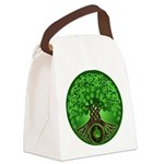 Circle Celtic Tree of Life Canvas Lunch Bag