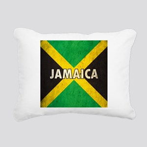 Jamaica Grunge Flag Rectangular Canvas Pillow