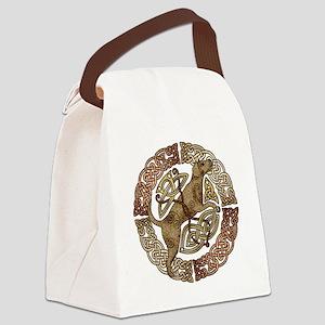 Celtic Dog Canvas Lunch Bag