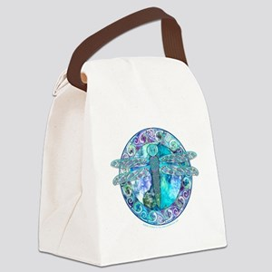 Cool Celtic Dragonfly Canvas Lunch Bag