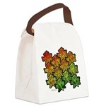 Celtic Leaf Tesselation Canvas Lunch Bag