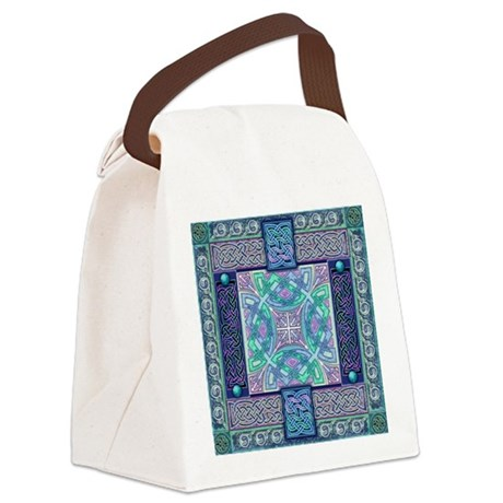 Celtic Atlantis Opal Canvas Lunch Bag