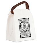 Celtic Knotwork Heart Canvas Lunch Bag