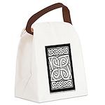Celtic Knotwork Cloverleaf Canvas Lunch Bag
