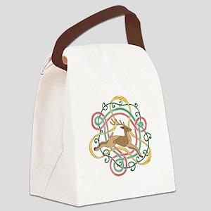 Celtic Reindeer Knots Canvas Lunch Bag