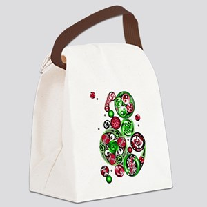 Christmas Celtic Spirals Canvas Lunch Bag