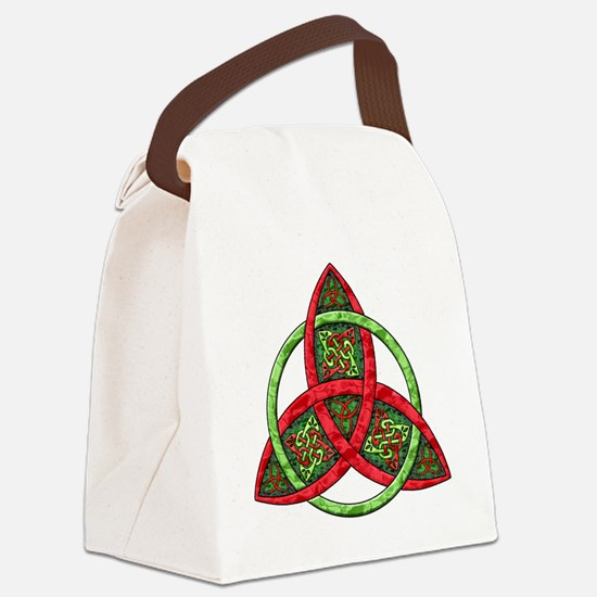 Celtic Holiday Knot Canvas Lunch Bag