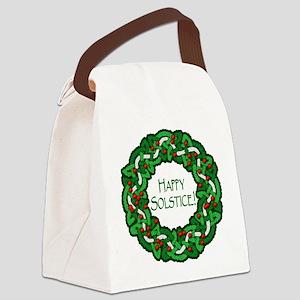 Celtic Solstice Wreath Canvas Lunch Bag