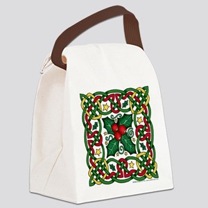 Celtic Garland and Holly Canvas Lunch Bag