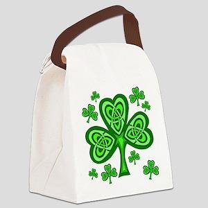 Celtic Shamrocks Canvas Lunch Bag