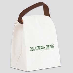 Not of Sound Mind (Latin) Canvas Lunch Bag