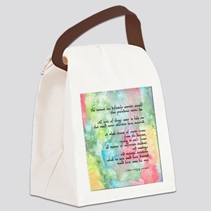 Inspirational Goethe Quote Canvas Lunch Bag