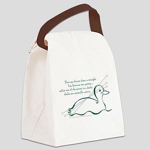 Ducks Naturally Curvy Canvas Lunch Bag