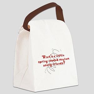 Spring Loaded Mayhem Canvas Lunch Bag