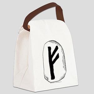 Viking Rune Fehu Canvas Lunch Bag