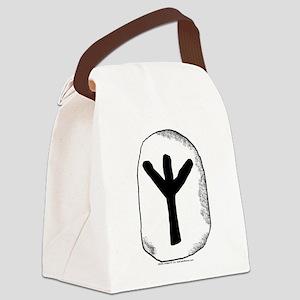 Viking Rune Algiz Canvas Lunch Bag