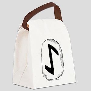Viking Rune Eihwaz Canvas Lunch Bag