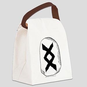 Viking Rune Inguz Canvas Lunch Bag