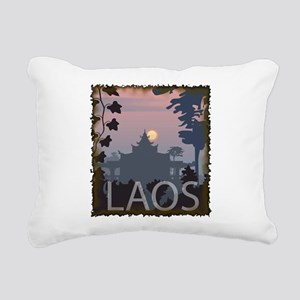 Vintage Laos Rectangular Canvas Pillow