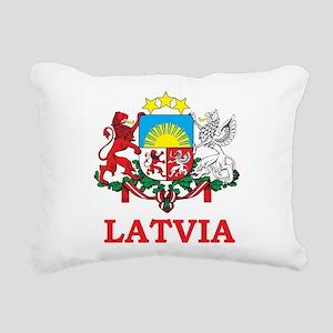 Latvia Rectangular Canvas Pillow