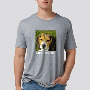 Dog Photo Personalized Mens Tri-blend T-Shirt