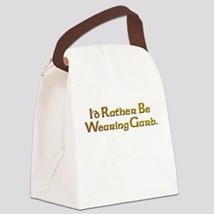 Rather Wear Garb Canvas Lunch Bag